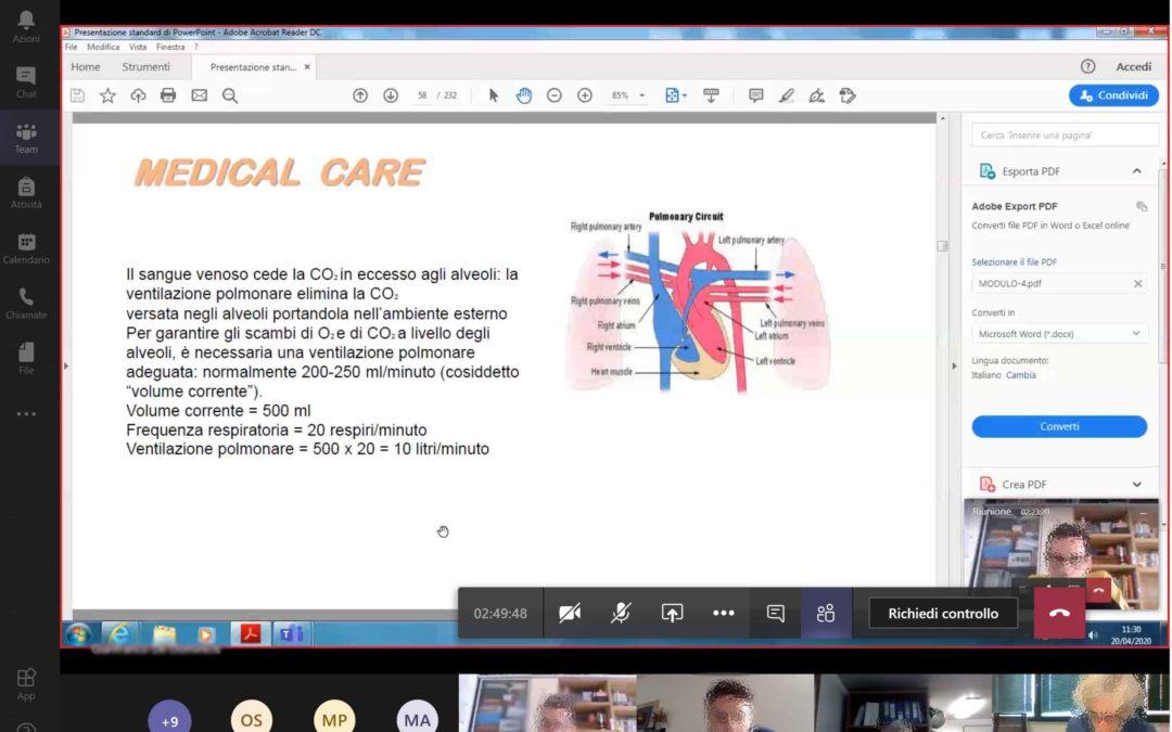 Marittimi: concluso con successo il primo ciclo di corsi telematici Medical Care